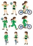 fit kvinna vektor illustrationer