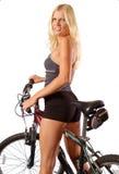 fit kvinna för cyklist Arkivbild