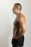 Fit Latin Guy in Profile royalty free stock image