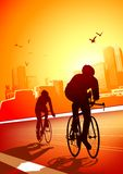 Fit for Life - cycling Royalty Free Stock Photos