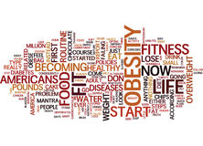Fit For Life A No Nonsense Look At Fitness Word Cloud Concept Royalty Free Stock Photography