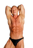 Fit Male Model. Fit Bodybuilder On Black Isolated Background Stock Photography