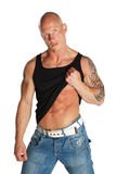 Fit Male Model. On White Isolated Background Stock Photography