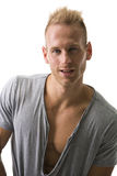 Fit male model smiling with a lot of confidence, looking at camera Royalty Free Stock Images