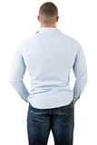 Fit Man From the Back Stock Photos