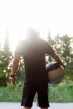 Fit Man Carrying Medicine Ball Royalty Free Stock Photo