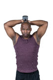 Fit man exercising with dumbbell Royalty Free Stock Photography