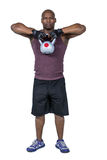 Fit man exercising with kettlebell Royalty Free Stock Photos