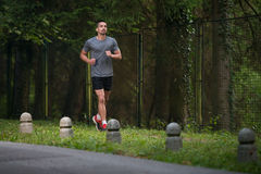 Fit Man Fitness Athlete Model Exercising Outdoor Stock Photo