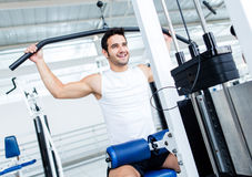 Fit man at the gym Stock Photos