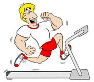 Fit man jogging on a treadmill Stock Image