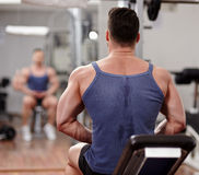 Fit man preparing for workout Stock Photography