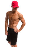 Fit Man In Red Cap Royalty Free Stock Photo