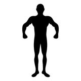 Fit man silhouette icon image. Vector illustration design Stock Images
