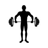 Fit man silhouette icon image. Vector illustration design Royalty Free Stock Photo