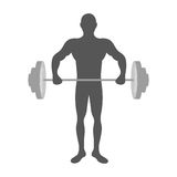 Fit man silhouette icon image. Vector illustration design Stock Image