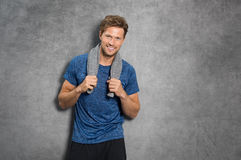 Fit man smiling Stock Photography