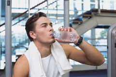 Fit man taking a break from working out Stock Photos