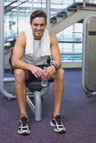 Fit man taking a break from working out Stock Image