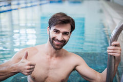 Fit man with thumbs up Stock Image