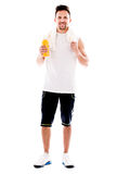 Fit man after workout Stock Images