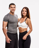 Fit muscular couple Royalty Free Stock Photography