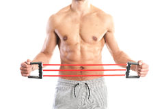 Fit, muscular male body Royalty Free Stock Images