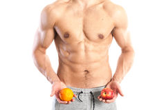Fit, muscular male body Royalty Free Stock Photography
