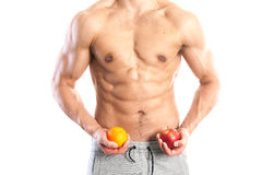 Fit, muscular male body Royalty Free Stock Photos