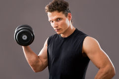 Fit muscular man Stock Photography