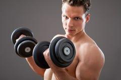 Fit muscular man Royalty Free Stock Photos