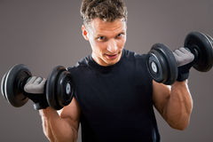 Fit muscular man Stock Images