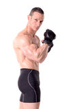 Fit muscular man posing Stock Photography