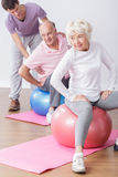 Fit older people Royalty Free Stock Images