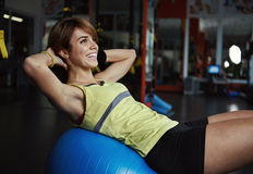 Fit people in the gym Royalty Free Stock Image