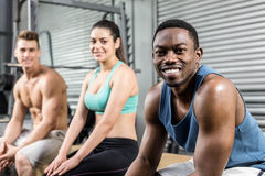 Fit people looking at the camera Royalty Free Stock Photos