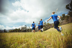 Fit people running in bootcamp Royalty Free Stock Photo