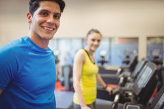 Fit people using the treadmill Royalty Free Stock Image