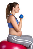 Fit Pregnant Girl Royalty Free Stock Images