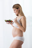 Fit pregnant woman Royalty Free Stock Image