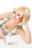 fit pusselkvinna för dollar Fotografering för Bildbyråer