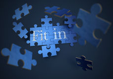 Fit in puzzle Stock Photography