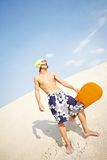 Fit sandboarder Royalty Free Stock Photo