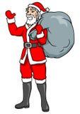 fit santa stock illustrationer