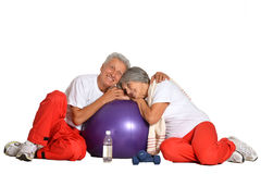 Fit senior couple Stock Photography