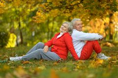 Fit senior couple Stock Images