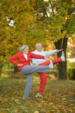 Fit senior couple Royalty Free Stock Images