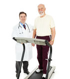 Fit Senior Man with Doctor Stock Images