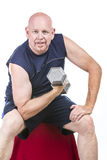 Fit Senior Man Doing Weight Training Stock Image
