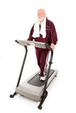 Fit Senior Man on Treadmill Stock Images